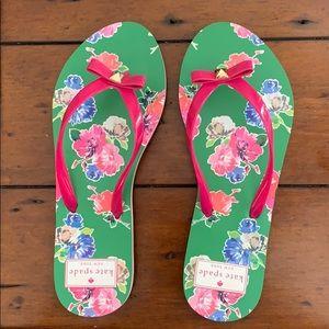 kate spade Summer flip flops brand new